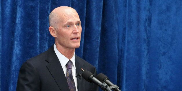 Florida Gov. Rick Scott speaks to the media during a pre-legislative news conference, Wednesday, Jan. 28, 2015, in Tallahasse