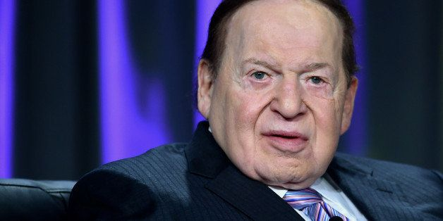 LAS VEGAS, NV - OCTOBER 01:  Las Vegas Sands Corp. Chairman and CEO Sheldon Adelson speaks at the Global Gaming Expo (G2E) 20
