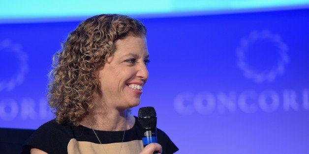 NEW YORK, NY - SEPTEMBER 29:  Chairwoman of the Democratic National Committee, Congresswoman Debbie Wasserman-Schultz, speaks