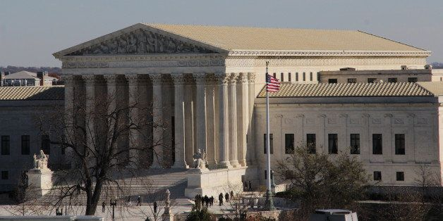 WASHINGTON, DC -NOVEMBER 18: A general view of the U.S. Supreme Court from the rooftop of the U.S. Capitol on November 18, 20