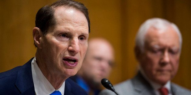 UNITED STATES - APRIL 8: Chairman Ron Wyden, D-Ore., speaks during the Senate Finance Committee hearing on 'Protecting Taxpay