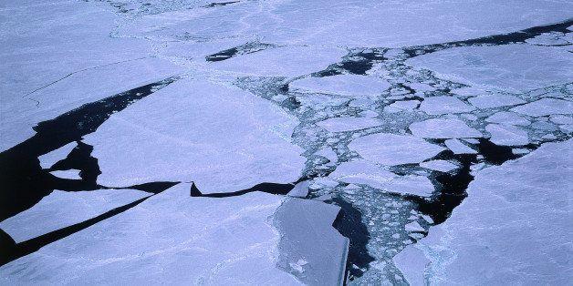 Ice breaking-up. Beaufort Sea, Alaska.