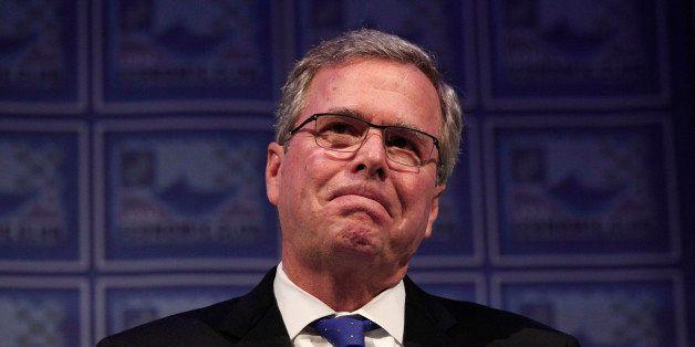 DETROIT, MI - FEBRUARY 4: Former Florida Governor Jeb Bush speaks at the Detroit Economic Club February 4, 2015 in Detroit, M