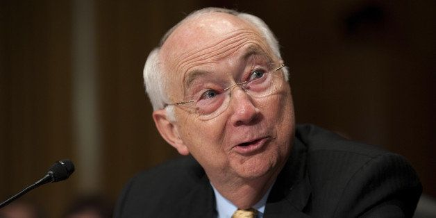 WASHINGTON, DC - May 04: Former U.S. Sen. Phil Gramm, R-Texas, now vice chairman of UBS Investment Bank, during the Senate Fi