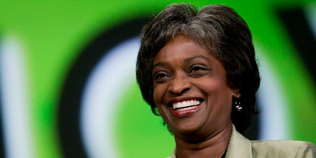 Mignon Clyburn, acting chairwoman of the Federal Communications Commission (FCC), laughs during an interview at the National
