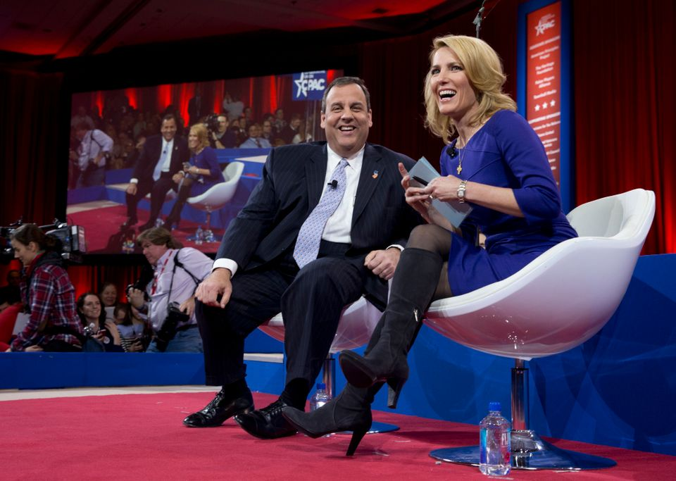 Conservative radio host Laura Ingraham interviews New Jersey Gov. Chris Christie (R).