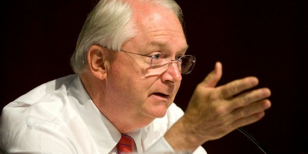 U.S. Representative Randy Neugebauer, a Republican from Texas, speaks at a House Financial Services subcommittee field hearin