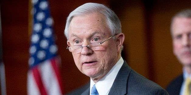 Senator Jeff Sessions, a Republican from Alabama, speaks during a news conference on the Department of Homeland Security (DHS