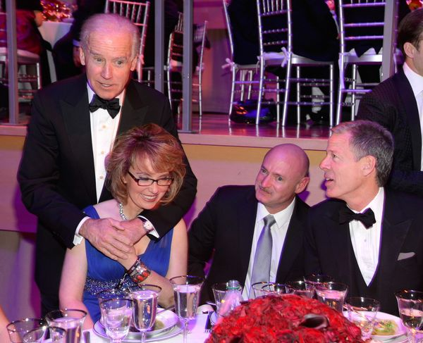 Vice President Joe Biden and Gabrielle Giffords attend the TIME 100 Gala.