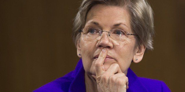 US Senator Elizabeth Warren, Democrat of Massachussetts, attends a US Senate Banking, Housing and Urban Affairs Committee hea
