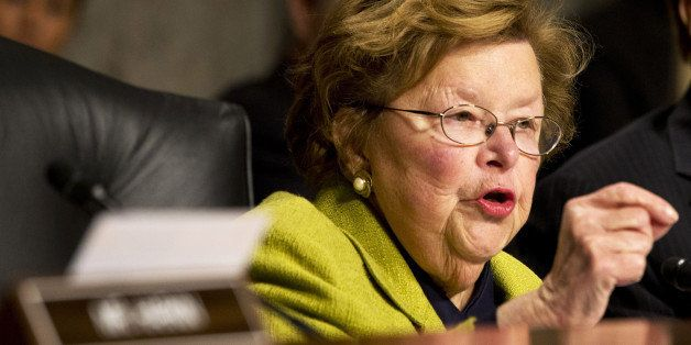 FILE - In this Nov. 12, 2014 file photo, Senate Appropriations Committee Chair Sen. Barbara Mikulski, D-Md. speaks on Capitol