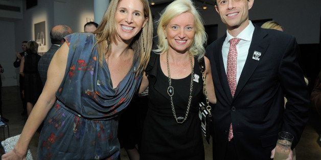 NEW YORK - OCTOBER 19:  Assistant Managing Editor of Fortune Leigh Gallagher, Carolyn Everson and Eric Braverman attend the F