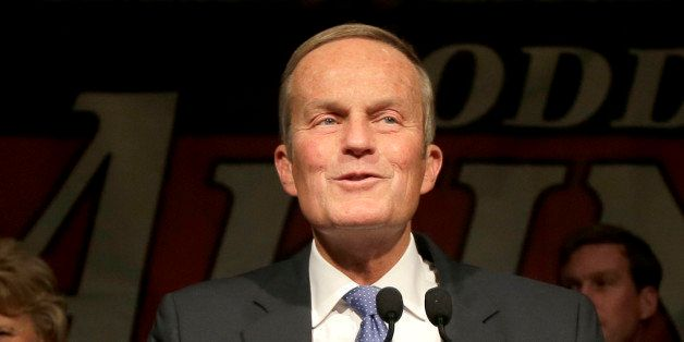 U.S. Senate candidate, Rep. Todd Akin, R-Mo., speaks to supporters after loosing to U.S. Sen. Claire McCaskill, D-Mo. Tuesday