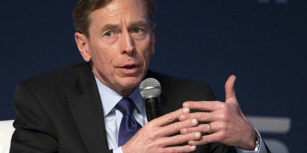 Former CIA director David Petraeus gives a speech at the Institute for National Security Studies during the 7th Annual Intern