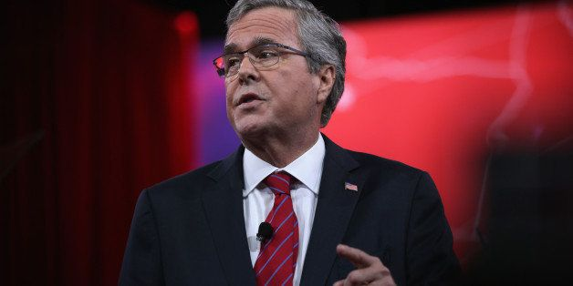 NATIONAL HARBOR, MD - FEBRUARY 27:  Former Florida governor Jeb Bush speaks at the 42nd annual Conservative Political Action