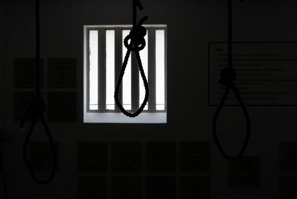 """Hanging was used as the primary method of execution until the electric chair's invention in 1890. Today,<a href=""""https://www."""