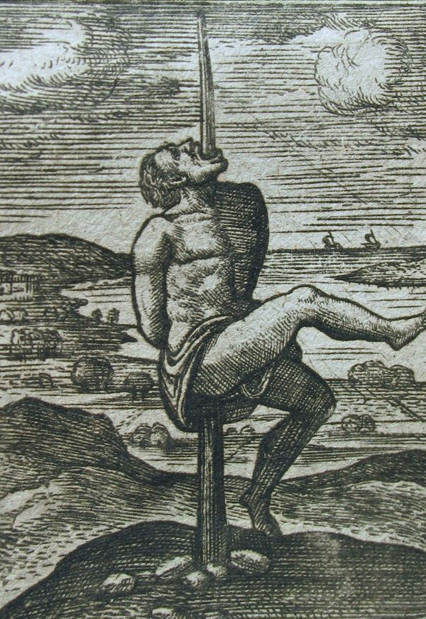 Records show this execution practice used as far back as the 18th century BC, where a person is penetrated through the center