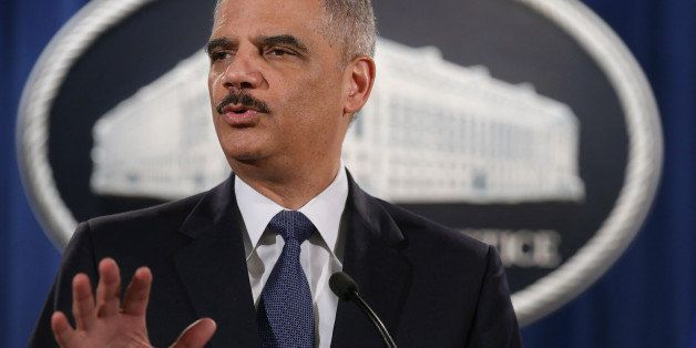 WASHINGTON, DC - MARCH 04:  Attorney General Eric Holder delivers remarks about the Justice Department's findings related to