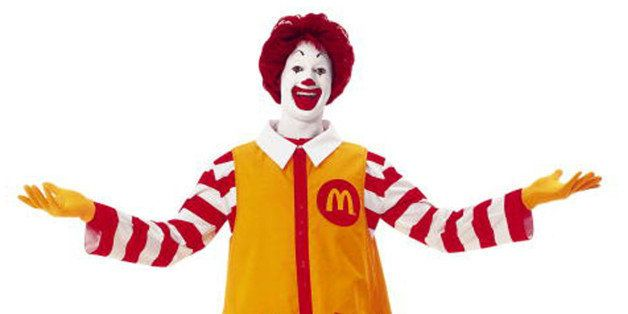 FILE - In this file photo released by McDonald's Corp., a familiar Ronald McDonald in his trademark yellow jumpsuit is shown.