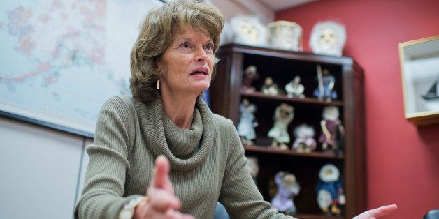 UNITED STATES - FEBRUARY 12: Sen. Lisa Murkowski, R-Alaska, is interviewed by CQ Roll Call in her Hart Building office, Febru
