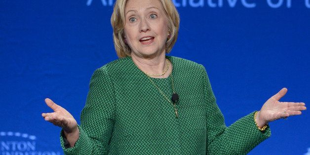 MIAMI, FL - MARCH 07: Former U.S. Secretary of State and U.S. Senator Hillary Clinton speaks at the 2015 Meeting of Clinton G