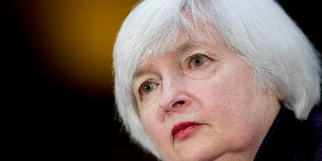 Janet Yellen, chair of the U.S. Federal Reserve, listens during a Senate Banking Committee hearing in Washington, D.C., U.S.,
