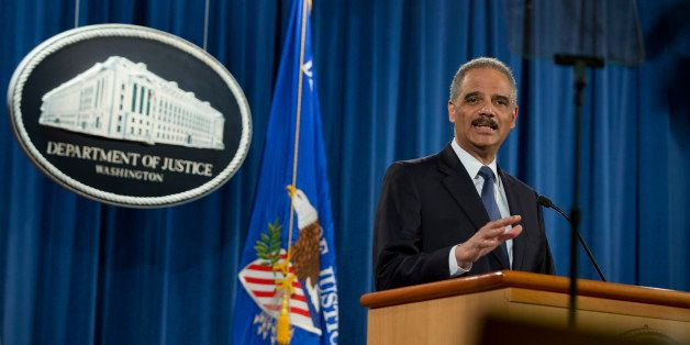 Attorney General Eric Holder speaks at the Justice Department in Washington, Wednesday, March 4, 2015, about the Justice Depa