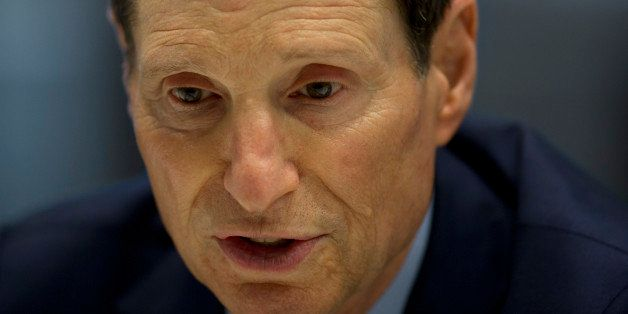 Senator Ron Wyden, a Democrat from Oregon, speaks during an interview in New York, U.S., on Monday, July 14, 2014. Wyden, a p