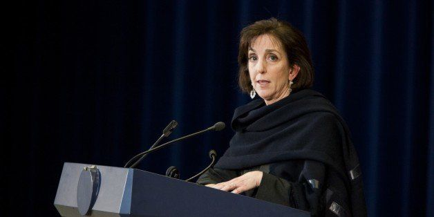 WASHINGTON, DC - FEBRUARY 27: Roberta S. Jacobson, head of the US Delegation to Cuba, speaks to reporters during a press conf