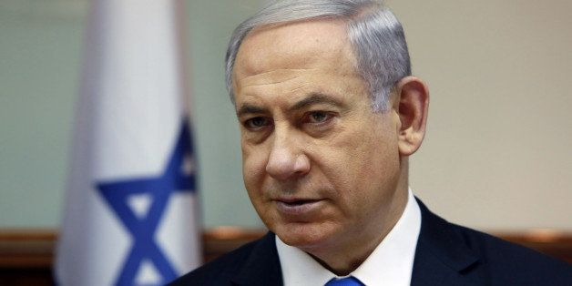 Israeli Prime Minister Benjamin Netanyahu chairs the weekly cabinet meeting at his Jerusalem office, Sunday, March 8, 2015. T