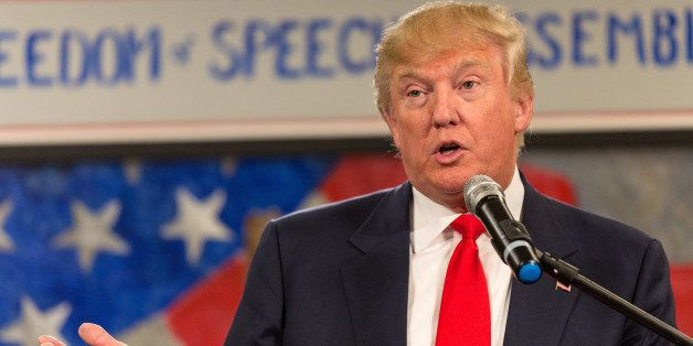 MYRTLE BEACH, SC - JANUARY 19:  Donald Trump speaks to the South Carolina Tea Party Coalition convention on January 19, 2015