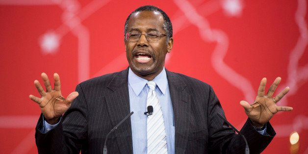 UNITED STATES - FEBRUARY 26: Dr. Ben Carson speaks to address the crowd at CPAC in National Harbor, Md., on Feb. 26, 2015. (P