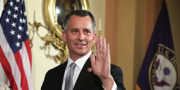 WASHINGTON, DC - MARCH 13:  U.S. Representative-elect David Jolly (R-FL) participates in a ceremonial swearing-in photo oppor