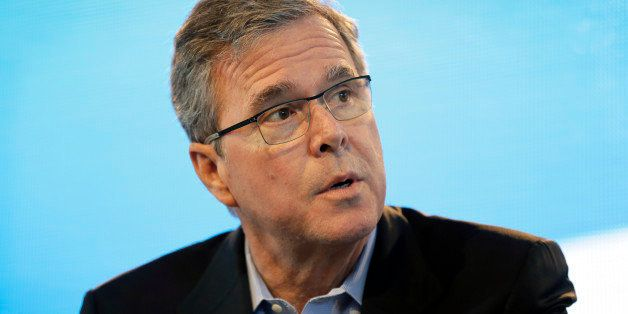 FILE - In this March 7, 2015, file photo, former Florida Gov. Jeb Bush speaks during the Iowa Agriculture Summit in Des Moine