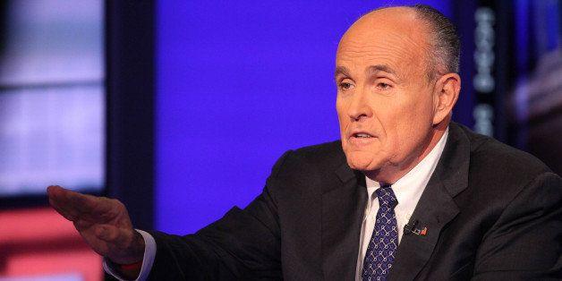 NEW YORK, NY - SEPTEMBER 23:  Rudy Giuliani visits 'Cavuto' On FOX Business Network at FOX Studios on September 23, 2014 in N