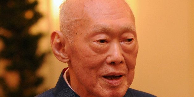 Elder statesman Lee Kuan Yew attends the launch of his new book on international affairs, at the Istana Presidential Palace i