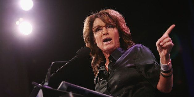 DES MOINES, IA - JANUARY 24:  Former Alaska Governor Sarah Palin speaks to guests at the Iowa Freedom Summit on January 24, 2