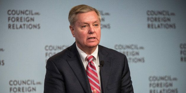 NEW YORK, NY - MARCH 23:  U.S. Sen. Lindsey Graham (R-SC)  speaks at the Council On Foreign Relations on March 23, 2015 in Ne