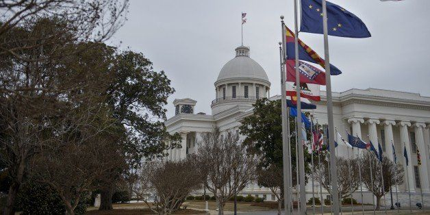 A view of the state capitol on March 6, 2015 in Montgomery, Alabama. March 7 will mark the 50th anniversary of Bloody Sunday