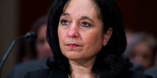 UNITED STATES - MARCH 12: DEA Administrator Michele Leonhart prepares to testify before a Senate Appropriations Commerce, Jus