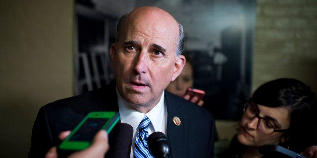 UNITED STATES - JUNE 11: Rep. Louie Gohmert, R-Texas, is questioned by reporters about the primary lose of House Majority Lea