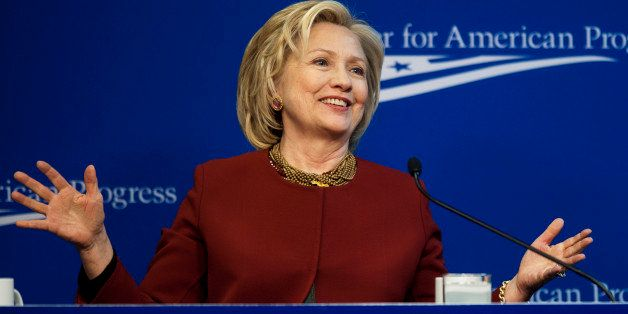 Hillary Clinton, former U.S. secretary of state, speaks at the Center for American Progress in Washington, D.C., U.S., on Mon