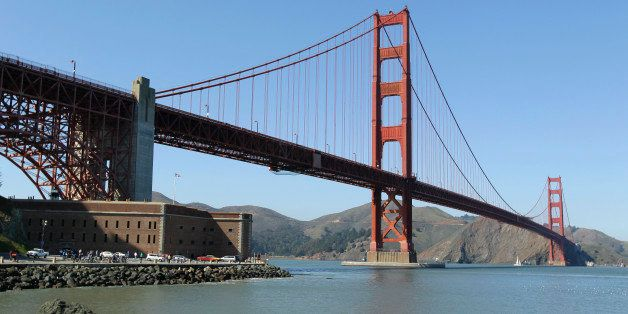 In this photo taken March 9, 2012 the Golden Gate Bridge is shown at Fort Point in San Francisco. It served as a picturesque