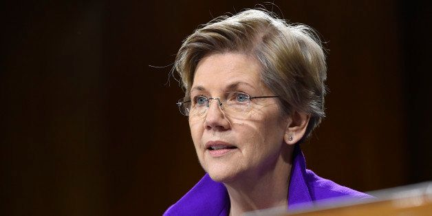 Senate Banking Committee member Sen. Elizabeth Warren, D-Mass. listens to testimony on Capitol Hill in Washington, Tuesday, F