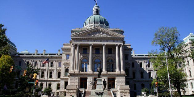 INDIANAPOLIS, IN - SEPTEMBER 30:  Indiana State Capitol Building, in Indianapolis, Indiana on SEPTEMBER 30, 2012.  (Photo By