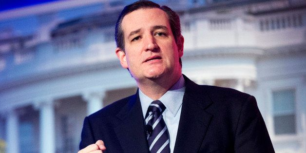 In this March 10, 2015, photo, Sen. Ted Cruz, R-Texas, speaks at the International Association of Firefighters (IAFF) Legisla