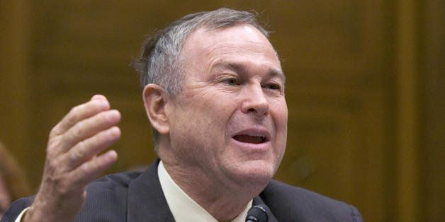 Washington, UNITED STATES: US Representative Dana Rohrabacher, Republican from California, testifies on the business perspect