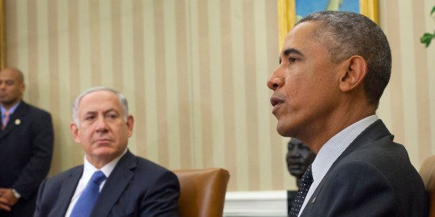 President Barack Obama meets with Israeli Prime Minister Benjamin Netanyahu in the Oval Office of the White House in Washingt