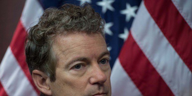 US Republican Senator from Kentucky Rand Paul attends a press conference to announce new bipartisan legislation to allow pati