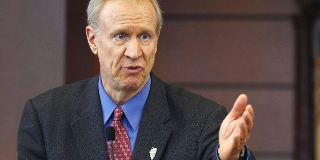 FILE - In this March 20, 2015, file photo, Illinois Gov. Bruce Rauner speaks at a news conference in Chicago. A bipartisan ag